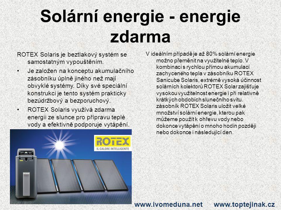 Solární energie - energie zdarma