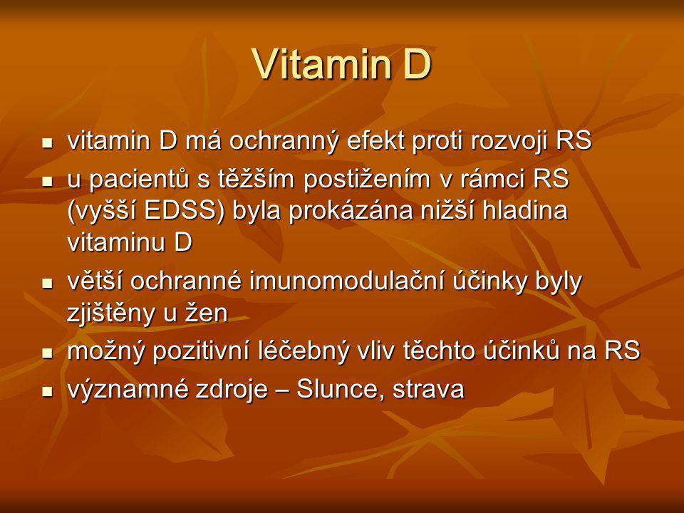 Vitamin D vitamin D má ochranný efekt proti rozvoji RS