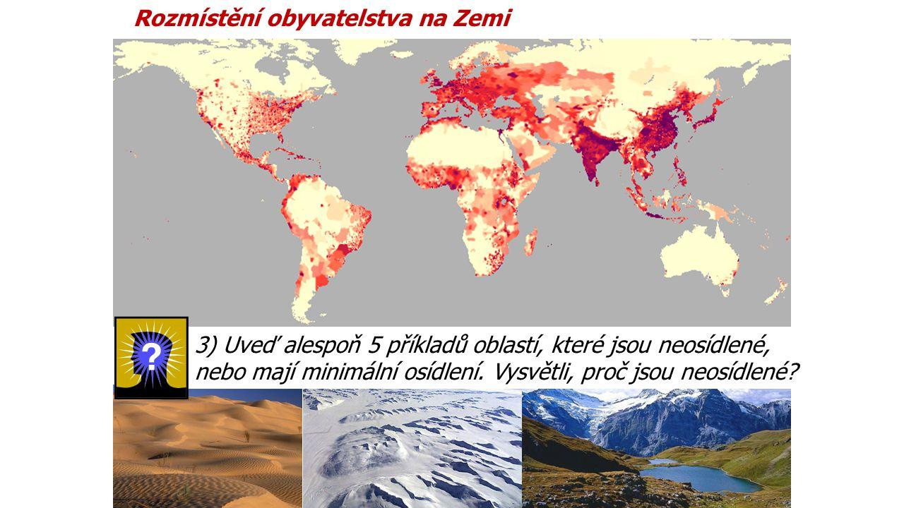 Rozmístění obyvatelstva na Zemi