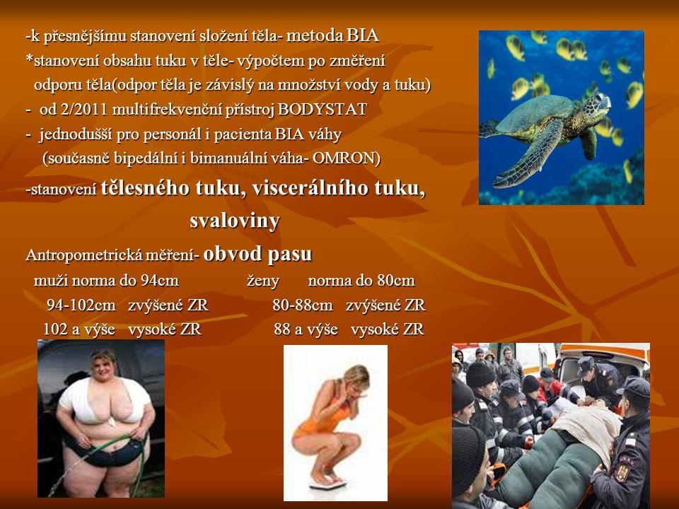 svaloviny -k přesnějšímu stanovení složení těla- metoda BIA