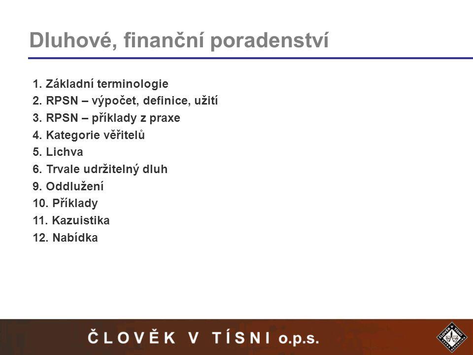 Dluhové, finanční poradenství
