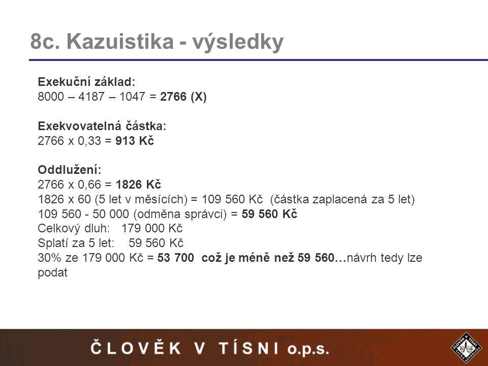 8c. Kazuistika - výsledky