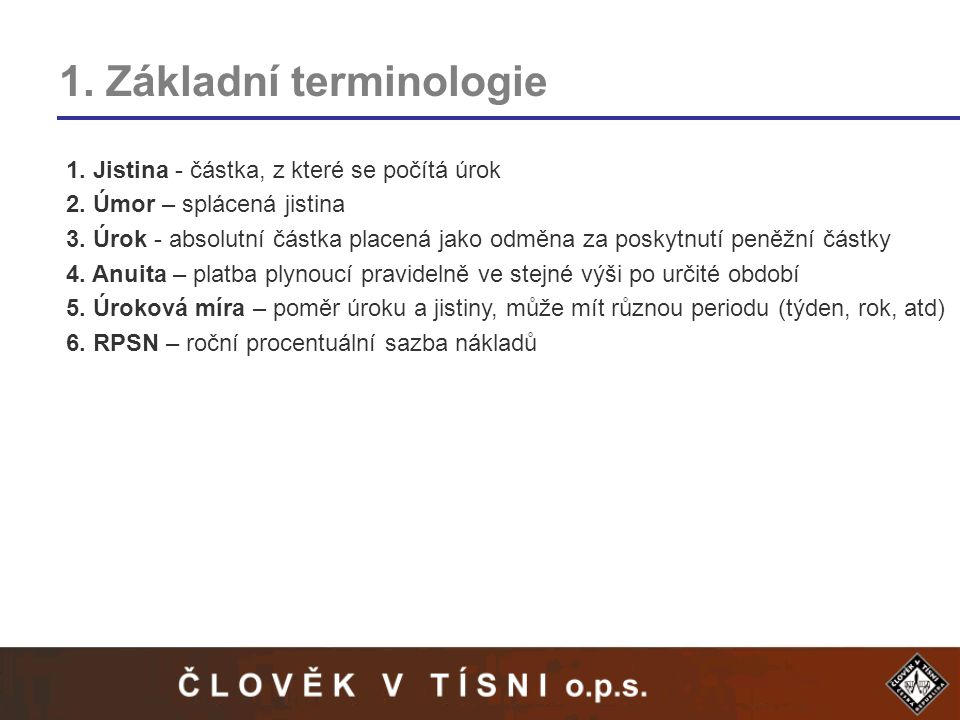 1. Základní terminologie