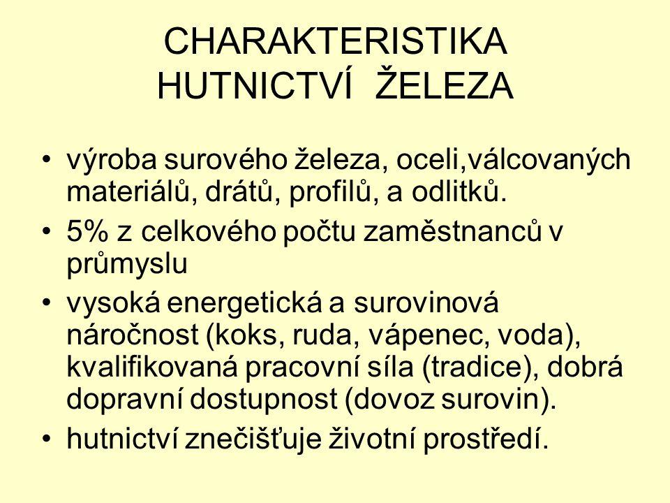CHARAKTERISTIKA HUTNICTVÍ ŽELEZA