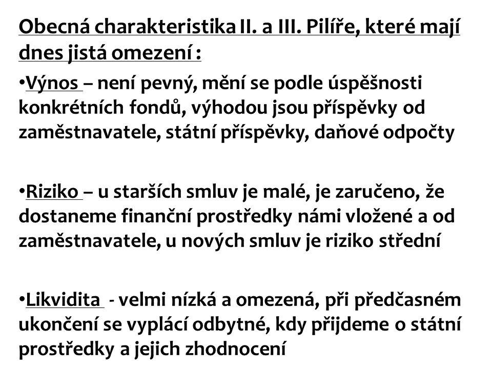 Obecná charakteristika II. a III