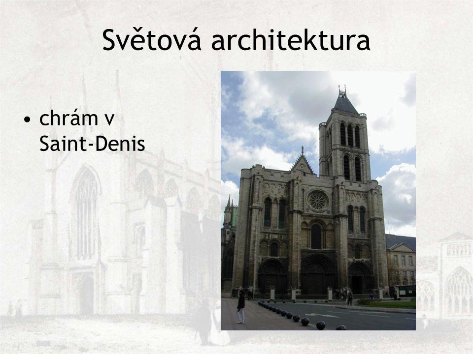 Světová architektura chrám v Saint-Denis