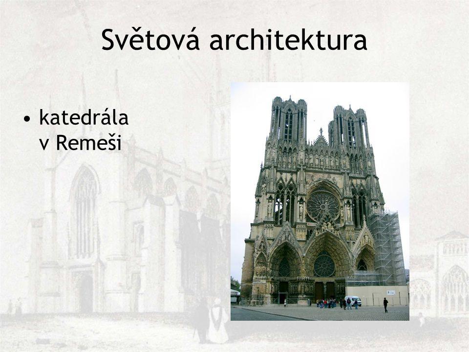 Světová architektura katedrála v Remeši