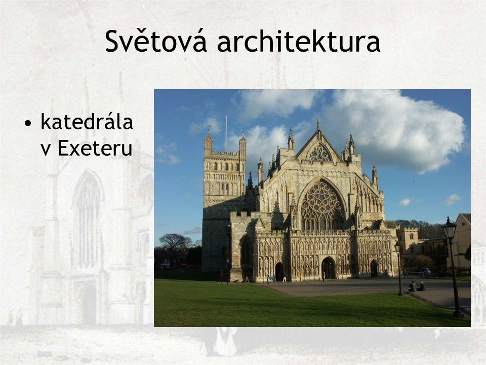 Světová architektura katedrála v Exeteru