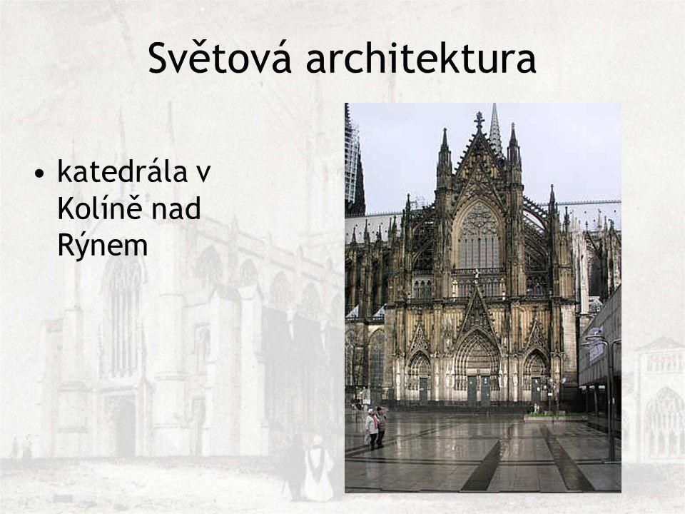 Světová architektura katedrála v Kolíně nad Rýnem