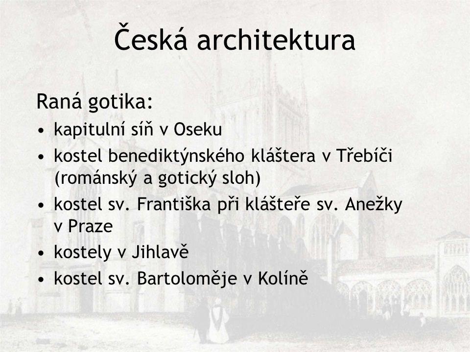 Česká architektura Raná gotika: kapitulní síň v Oseku