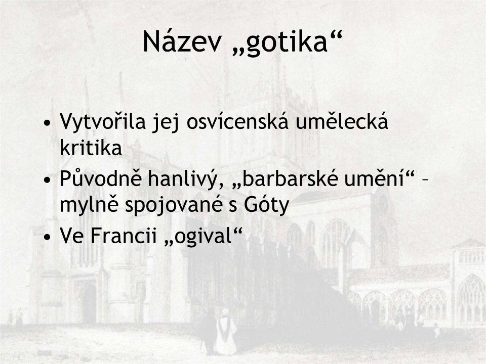 """Název """"gotika Vytvořila jej osvícenská umělecká kritika"""