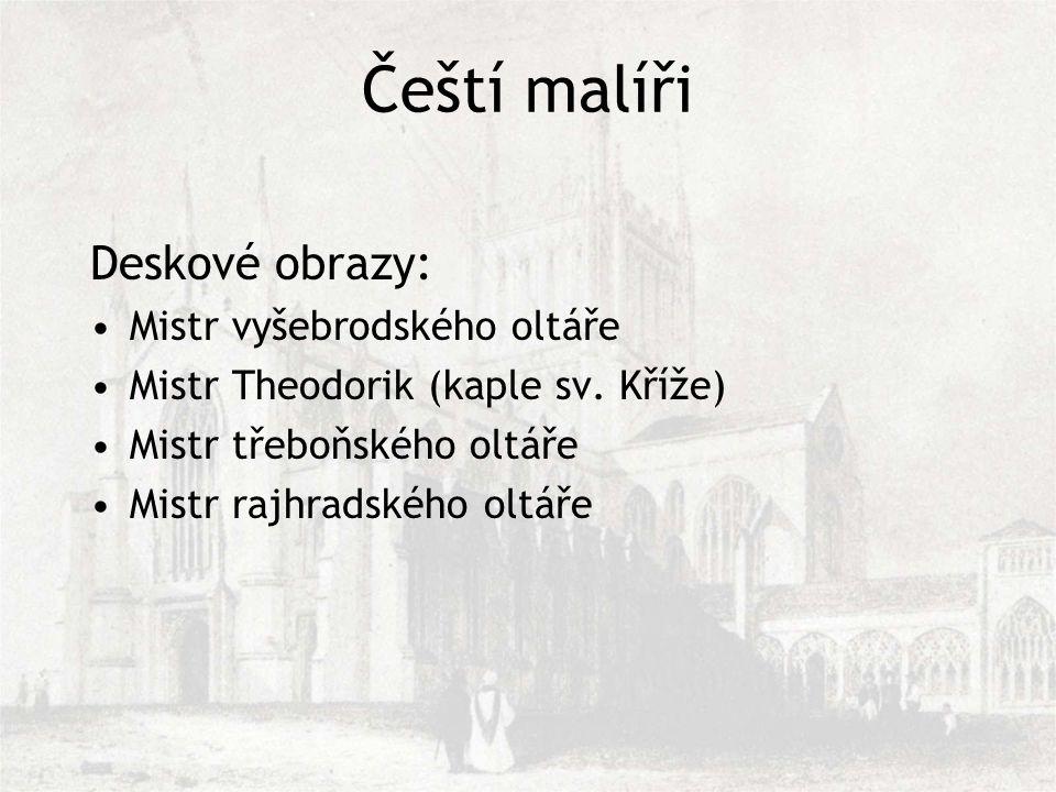 Čeští malíři Deskové obrazy: Mistr vyšebrodského oltáře