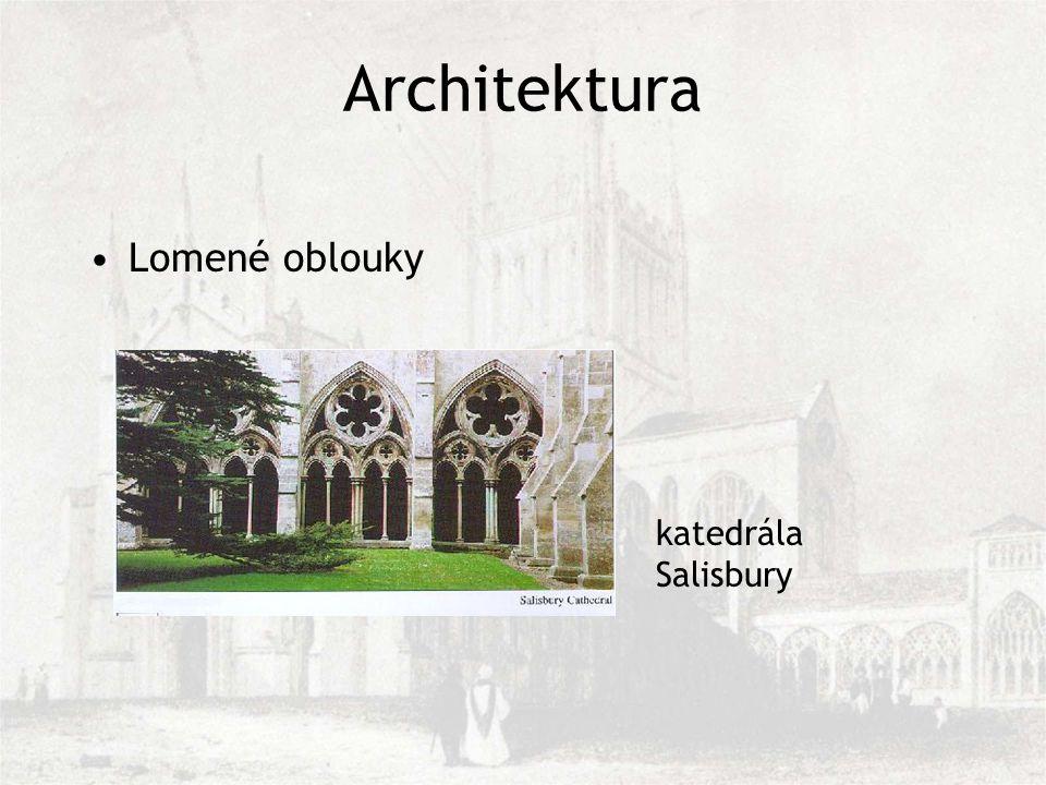 Architektura Lomené oblouky katedrála Salisbury