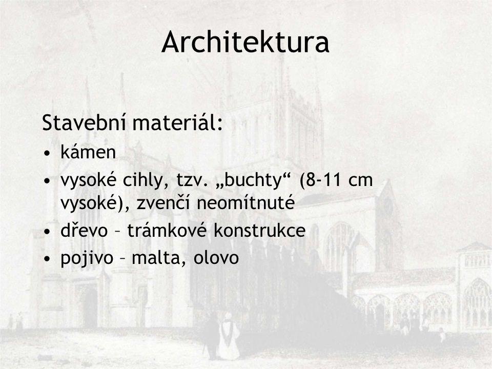 Architektura Stavební materiál: kámen