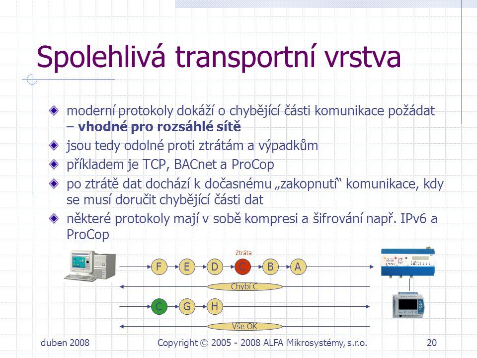 Spolehlivá transportní vrstva