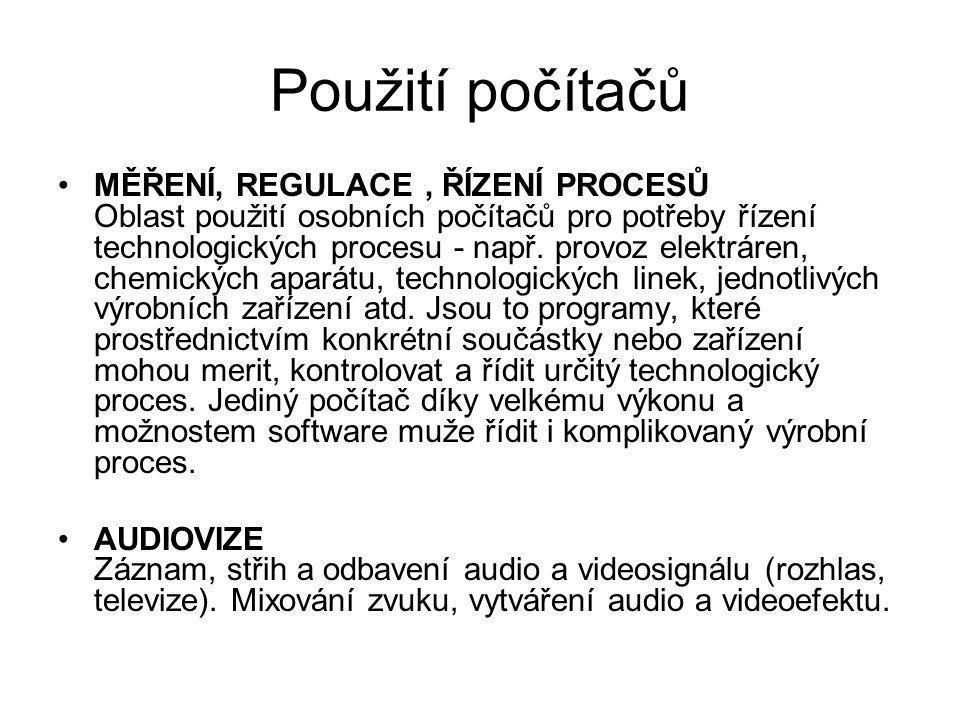 Použití počítačů