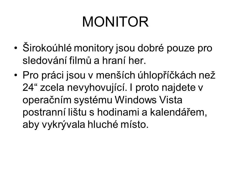 MONITOR Širokoúhlé monitory jsou dobré pouze pro sledování filmů a hraní her.