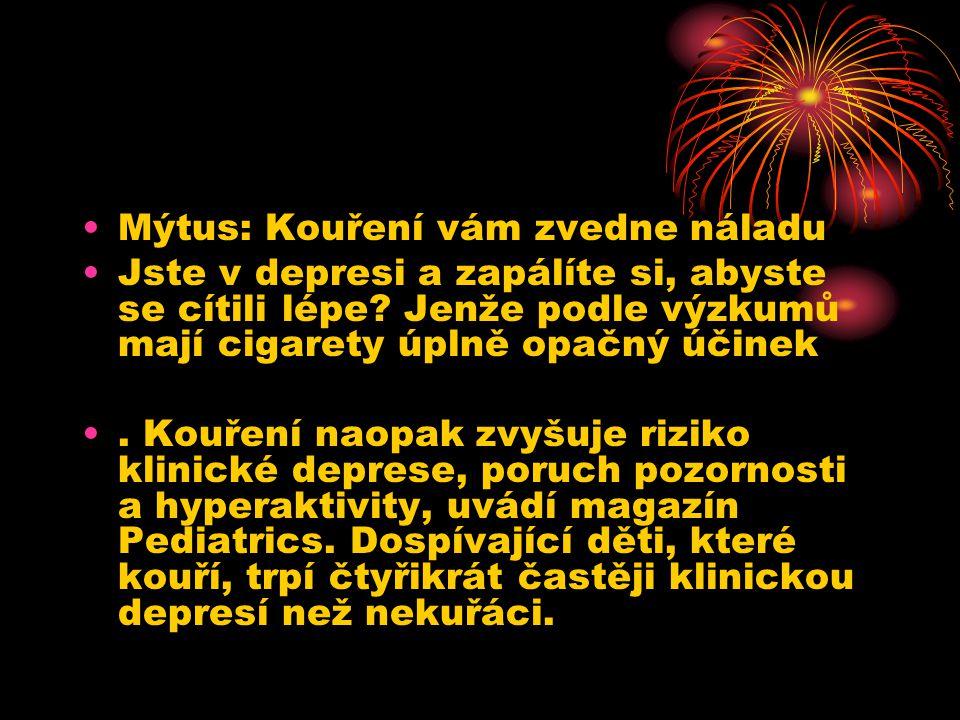 Mýtus: Kouření vám zvedne náladu
