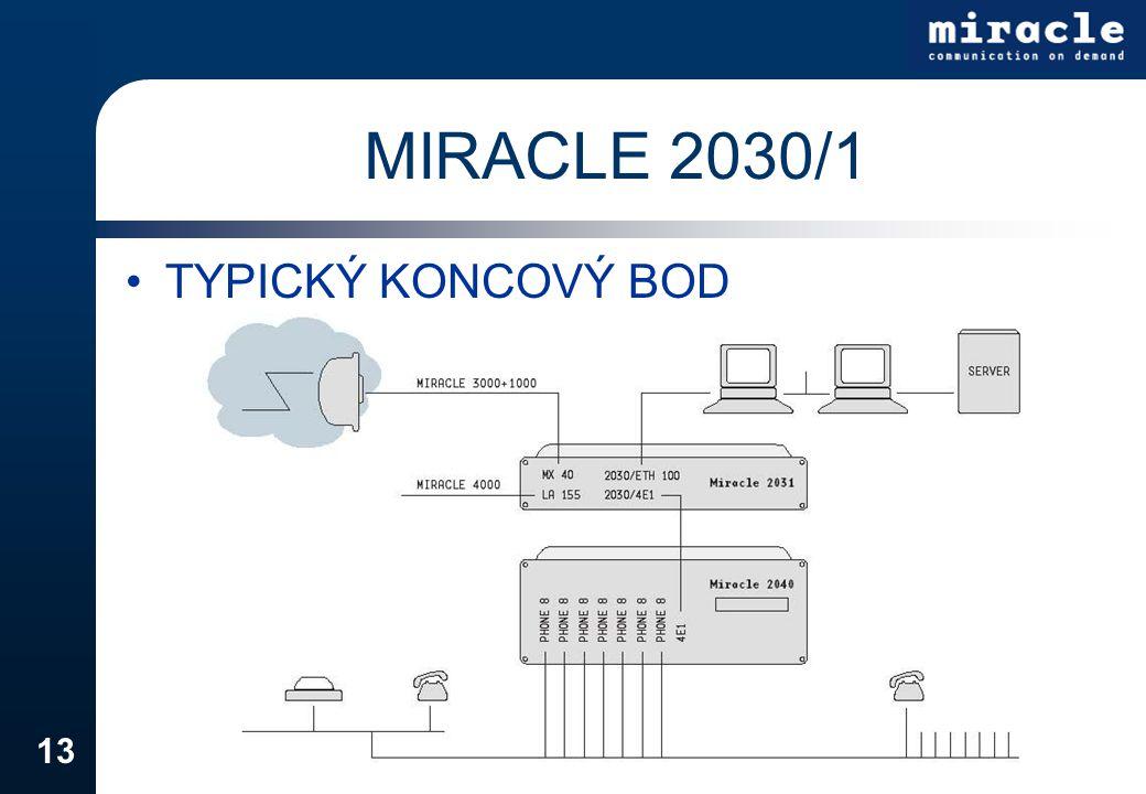 MIRACLE 2030/1 TYPICKÝ KONCOVÝ BOD
