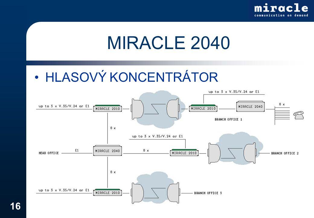MIRACLE 2040 HLASOVÝ KONCENTRÁTOR