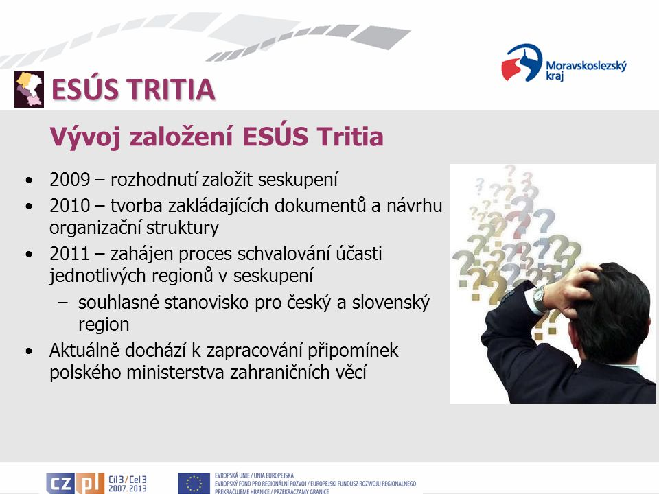 Vývoj založení ESÚS Tritia