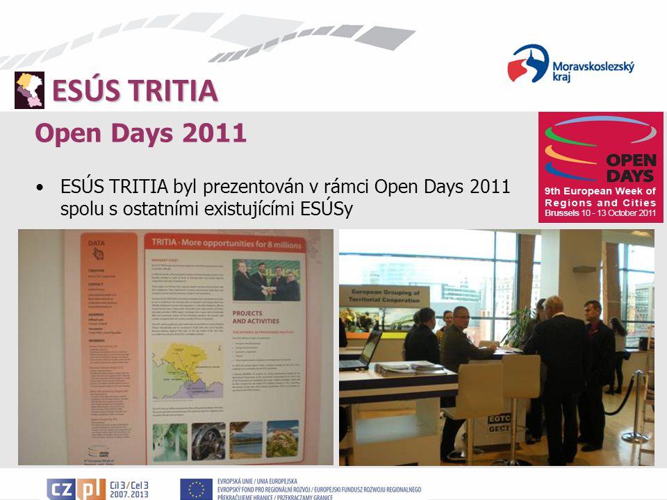 Open Days 2011 ESÚS TRITIA byl prezentován v rámci Open Days 2011 spolu s ostatními existujícími ESÚSy.