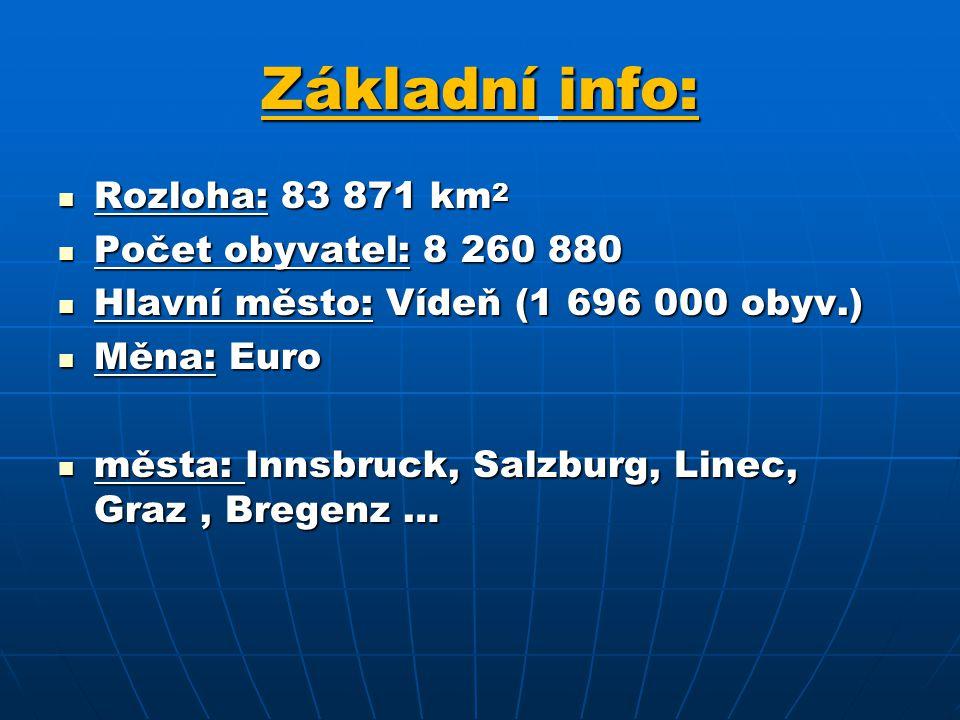 Základní info: Rozloha: 83 871 km2 Počet obyvatel: 8 260 880