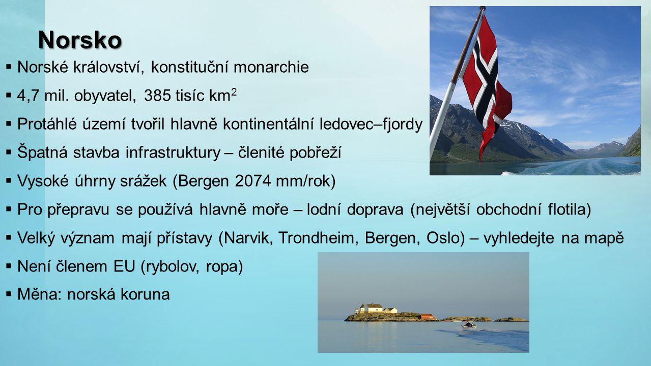 Norsko Norské království, konstituční monarchie