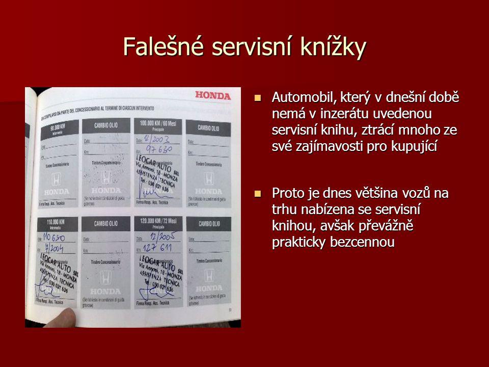 Falešné servisní knížky
