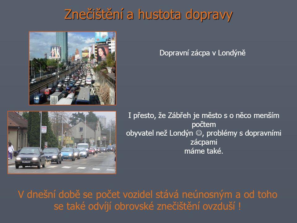 Znečištění a hustota dopravy