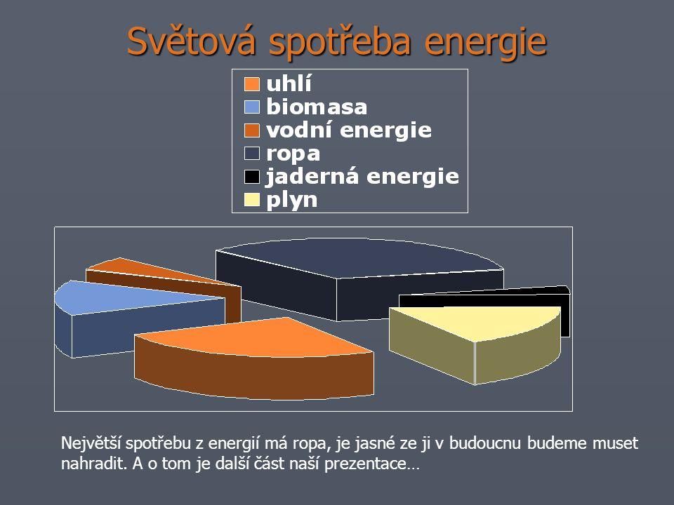 Světová spotřeba energie