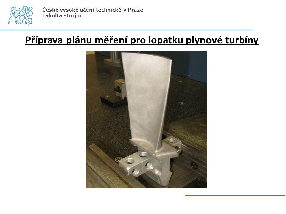 Příprava plánu měření pro lopatku plynové turbíny