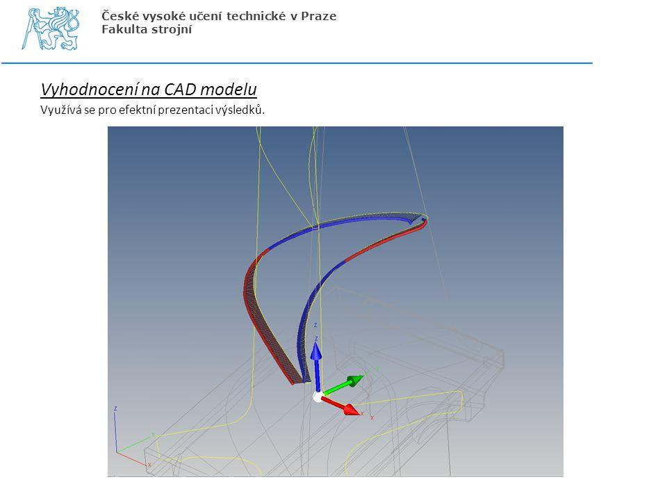 Vyhodnocení na CAD modelu