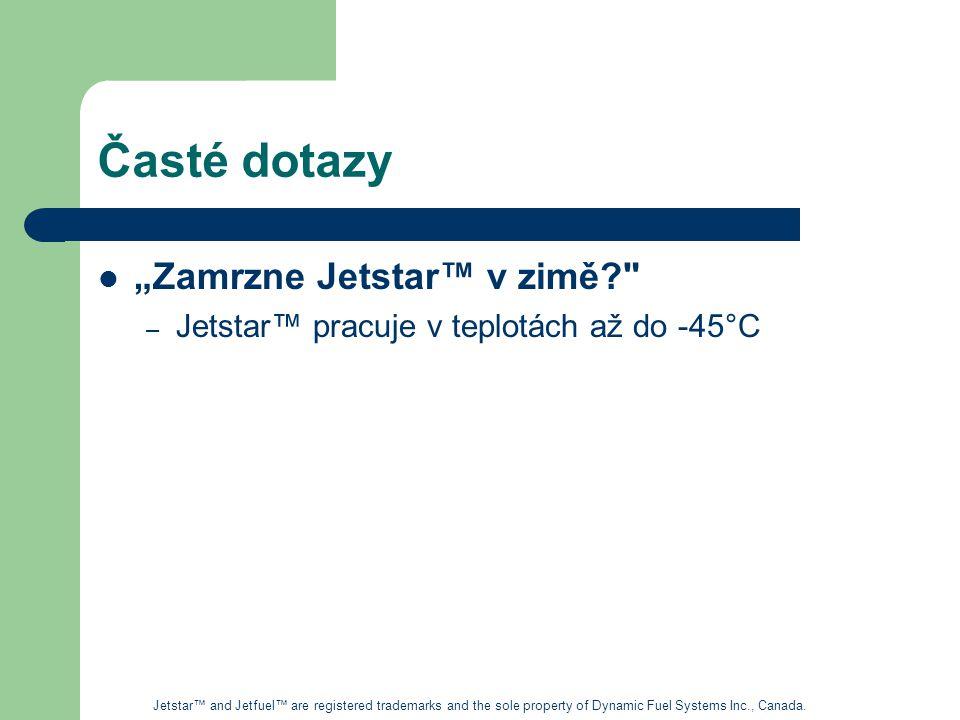 """Časté dotazy """"Zamrzne Jetstar™ v zimě"""