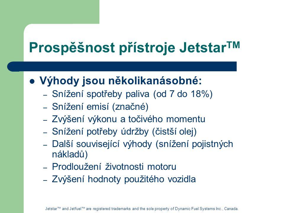 Prospěšnost přístroje JetstarTM