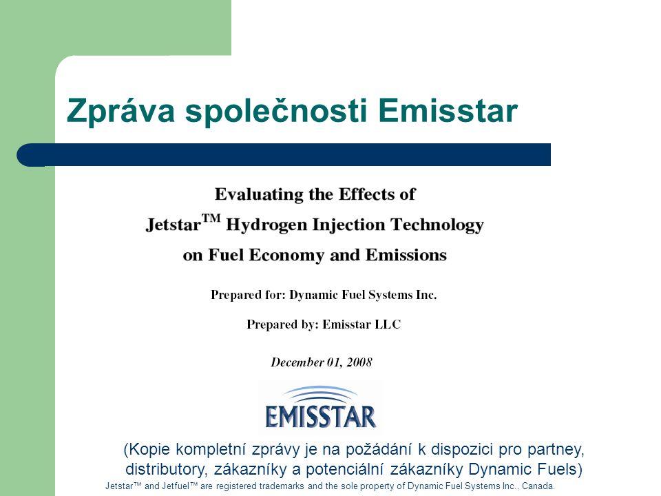 Zpráva společnosti Emisstar