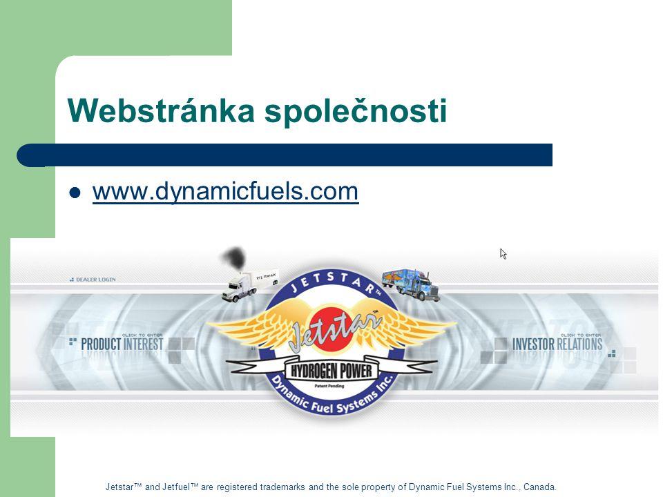 Webstránka společnosti