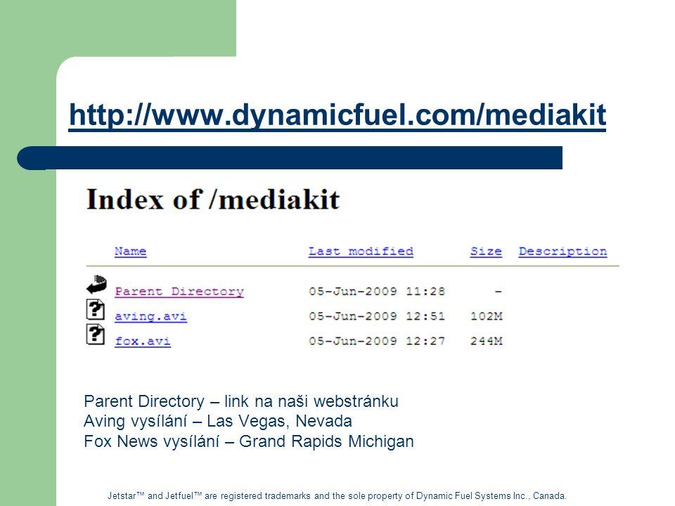 http://www.dynamicfuel.com/mediakit Parent Directory – link na naši webstránku. Aving vysílání – Las Vegas, Nevada.