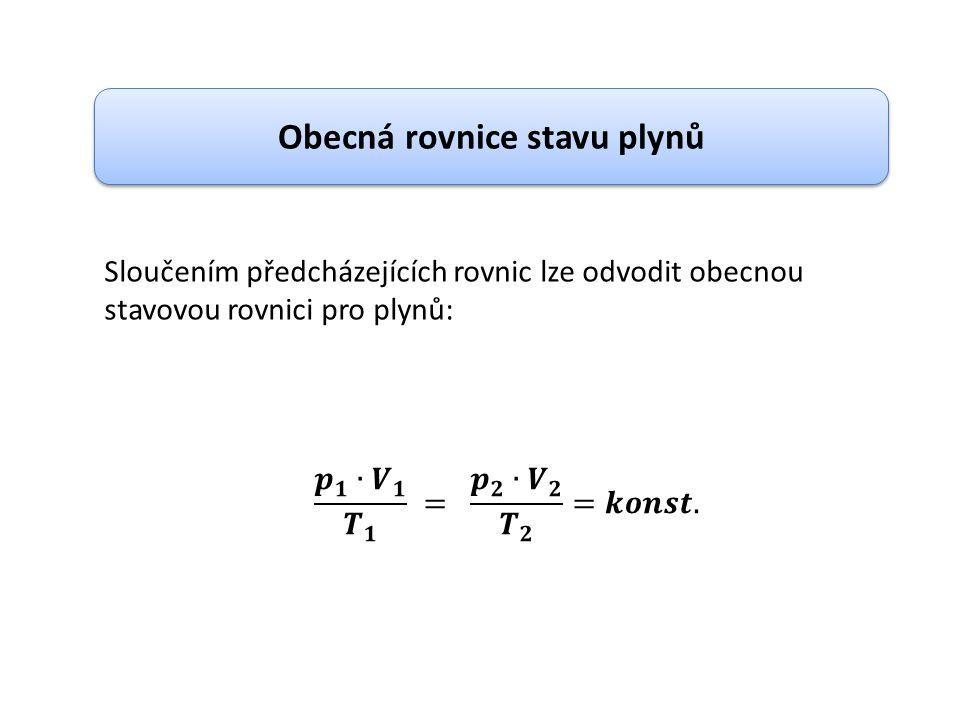Obecná rovnice stavu plynů