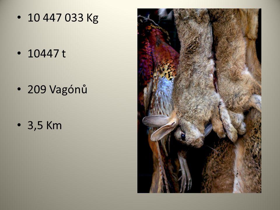 10 447 033 Kg 10447 t 209 Vagónů 3,5 Km