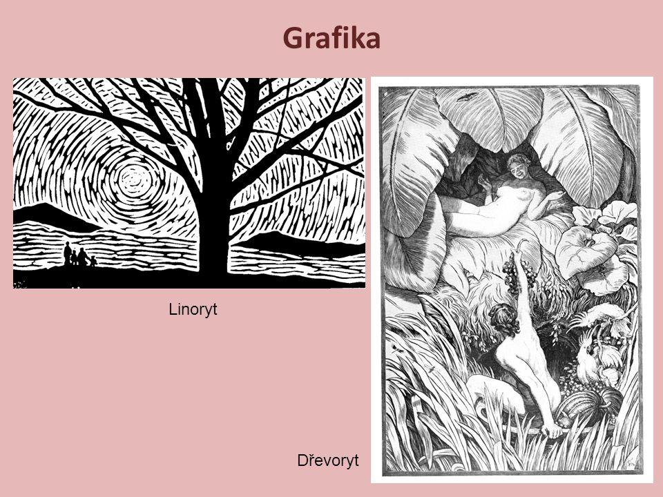 Grafika Linoryt Dřevoryt