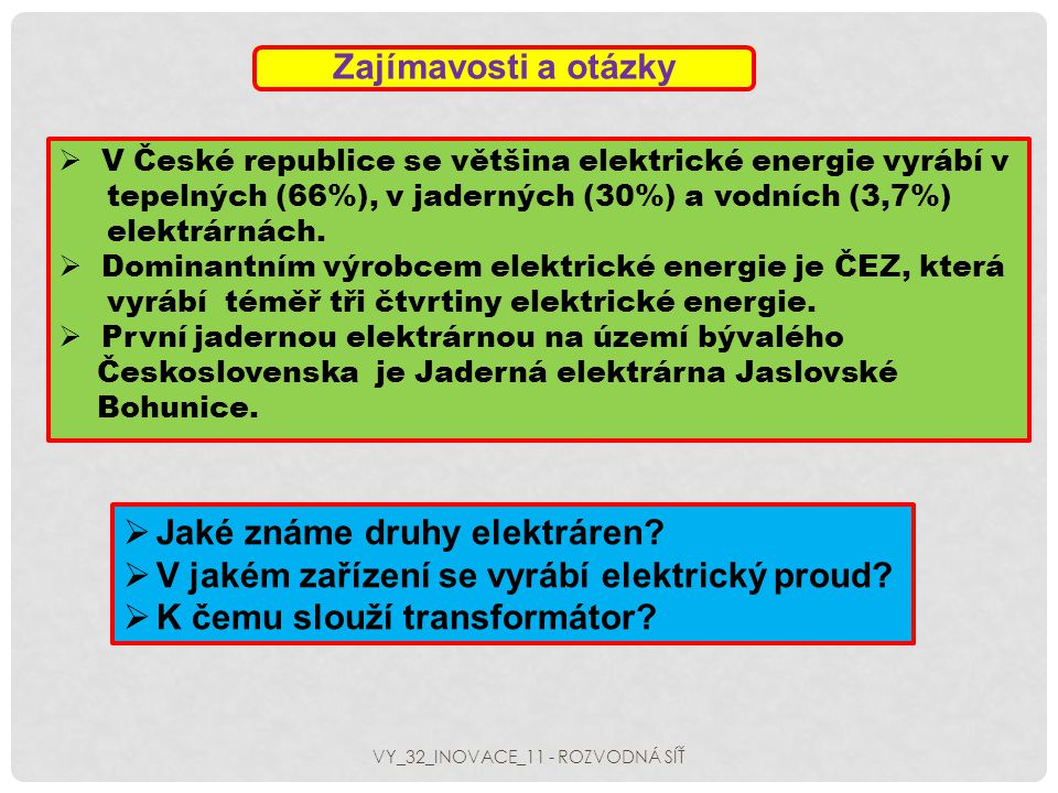 VY_32_INOVACE_11 - ROZVODNÁ SÍŤ