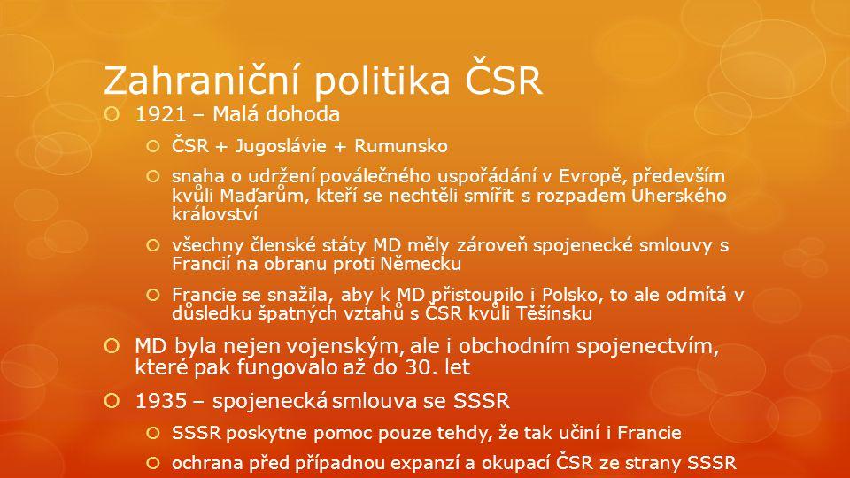 Zahraniční politika ČSR