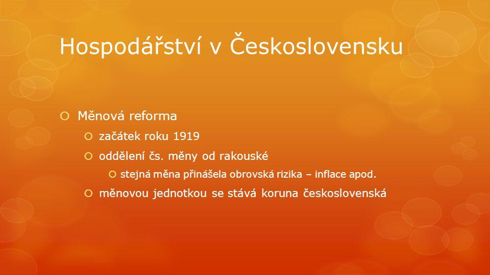 Hospodářství v Československu