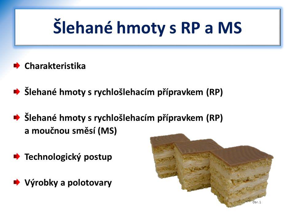 Šlehané hmoty s RP a MS Charakteristika