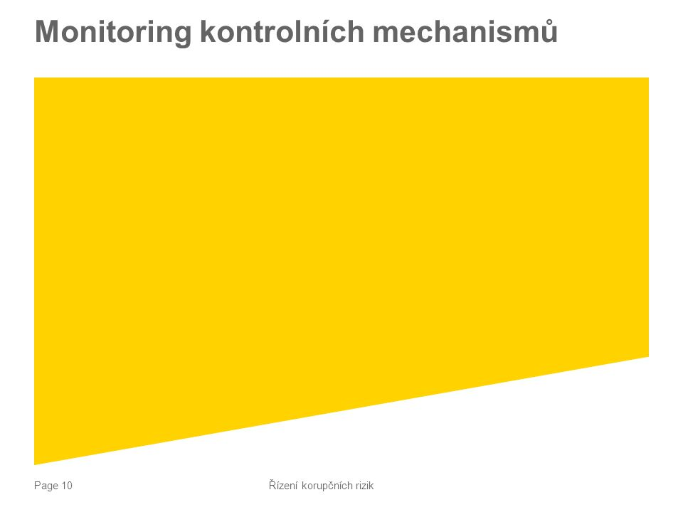 Monitoring kontrolních mechanismů