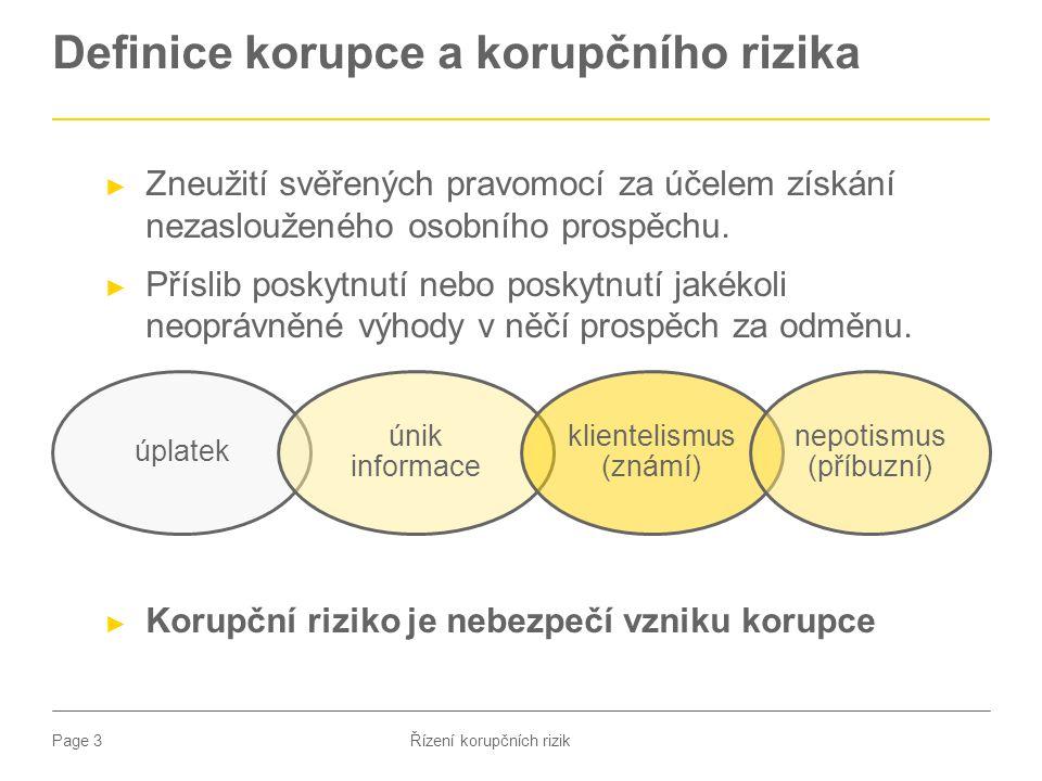 Definice korupce a korupčního rizika
