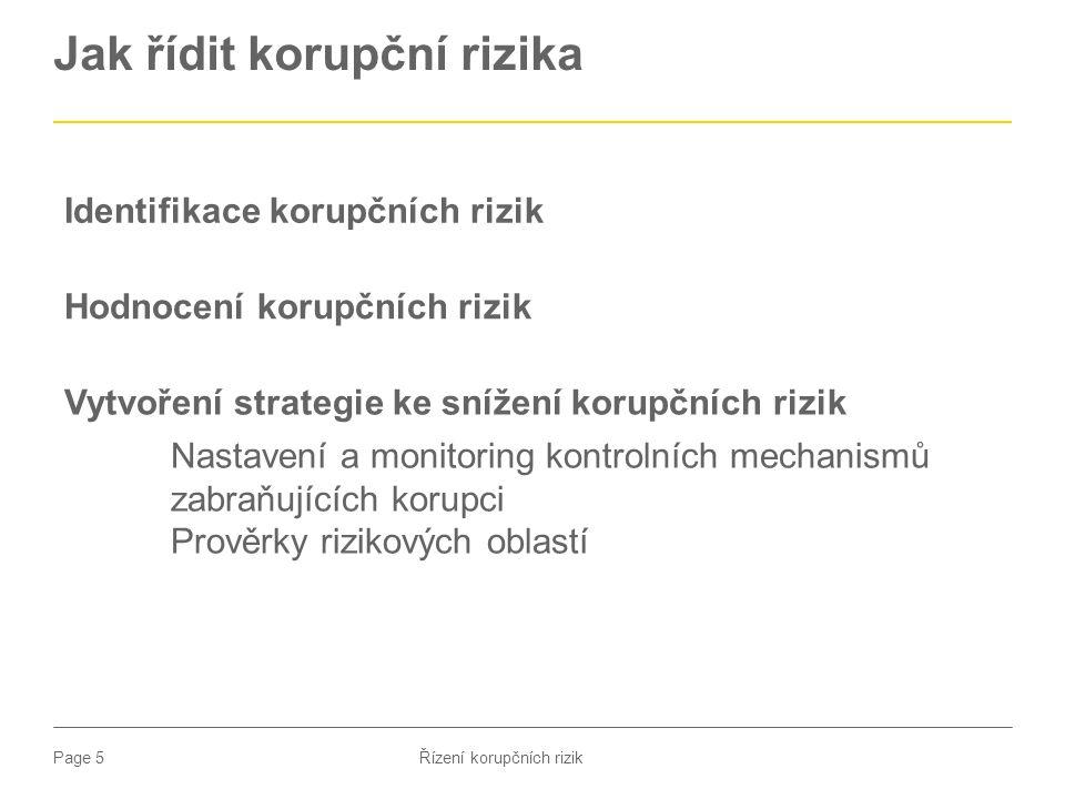 Jak řídit korupční rizika