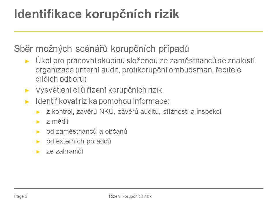 Identifikace korupčních rizik