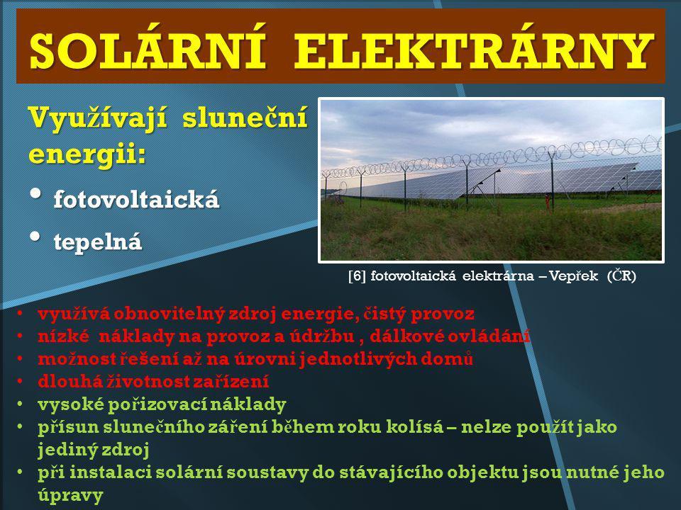 Využívají sluneční energii: fotovoltaická tepelná